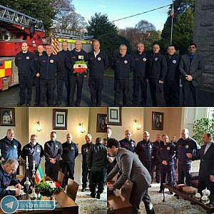 ابراز همدردی آتشنشانّای ایرلندی